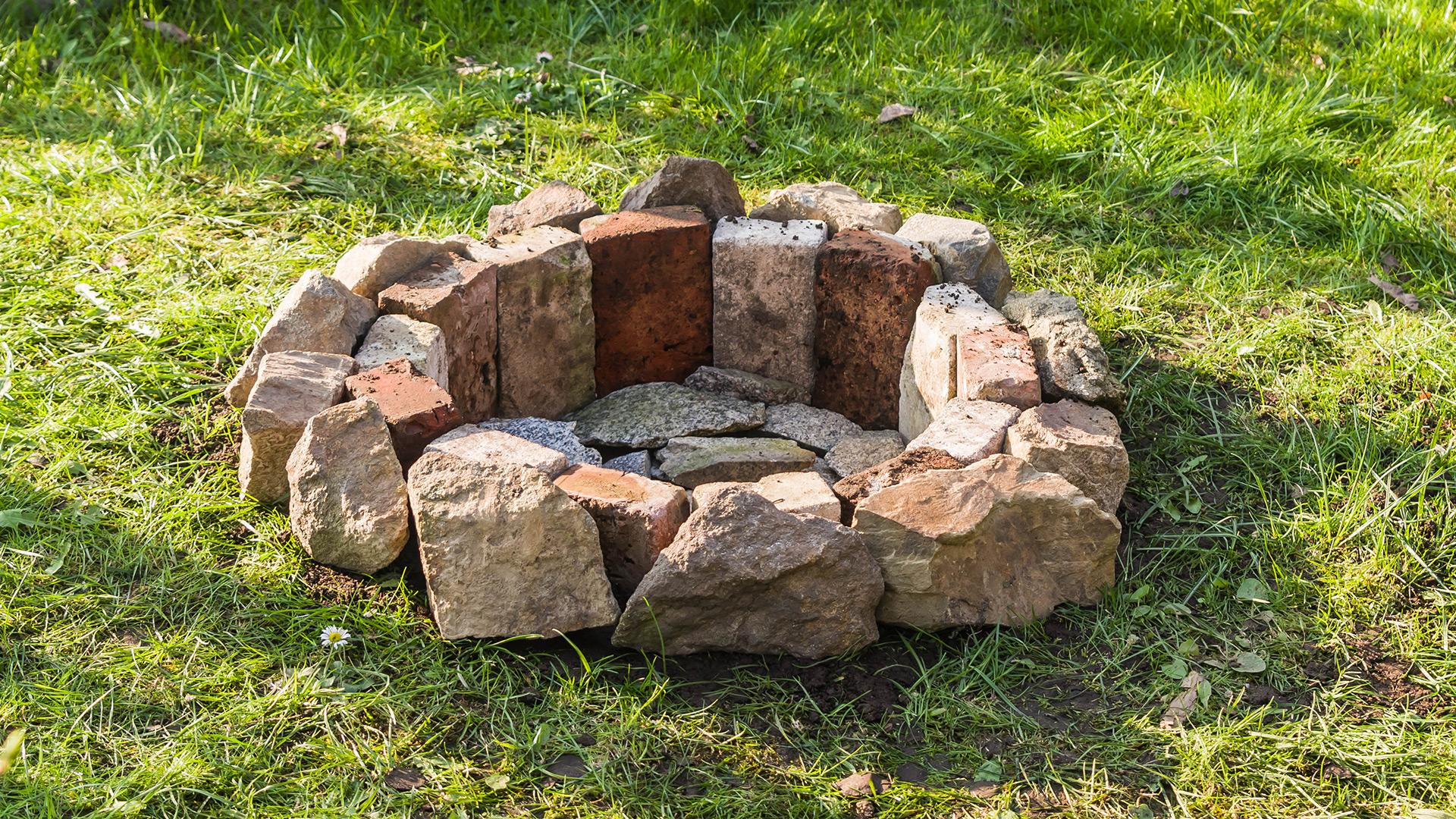 Unsere neue Feuerstelle