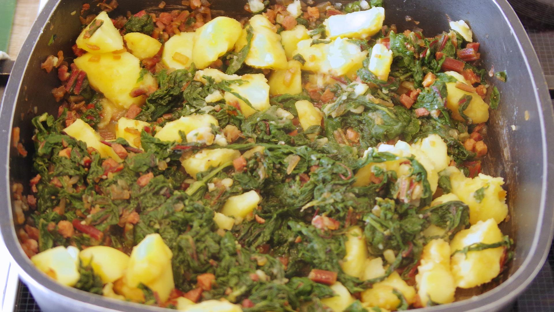 Mangold-Kartoffel-Pfanne