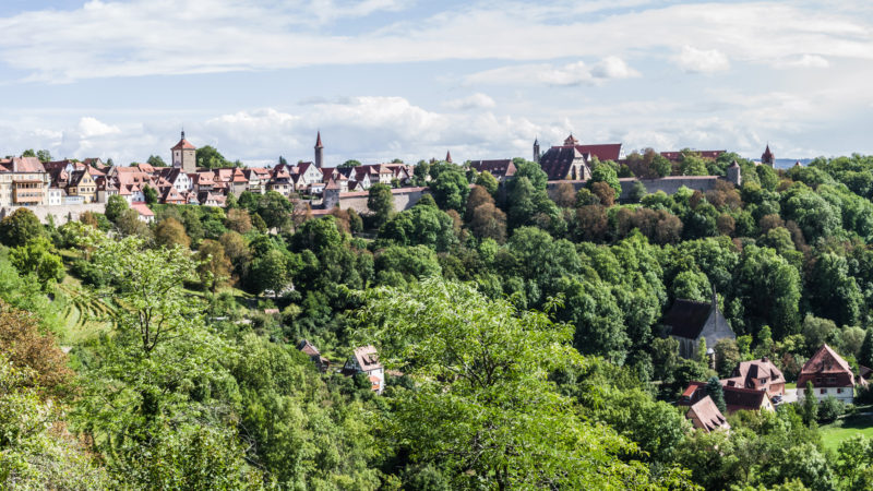 Rothenburg ob der Tauber: Blick auf die Stadt